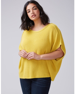 lane-bryant-womens-textured-dolman-sweater-14-20-misted-yellow